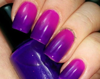 Thermal nail polish - Glamping -  5 ml bottle  -  Handmade - polish  - Vegan