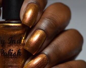 Golden graduation - gold shifty nail polish - Cruelty free cosmetics  - 15ml - autumn