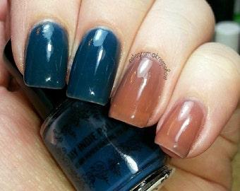 Thermal nail polish - Farmers tan -  mini 5ml  -  Handmade - polish  - Vegan