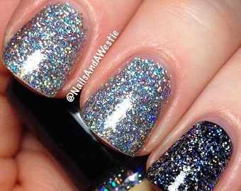 Holographic glitter nails BIRTHDAY PARTY  -  all glitter