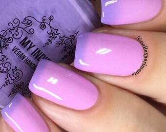 Nail polish that changes colour - pink nails - purple nailpolish 15 ml