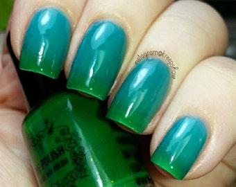 Thermal nail polish - Palm trees and cool seas - blue green nailpolish - 15ml
