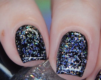 Tinfoil hats holographic shred glitter topcoat - 15 ml