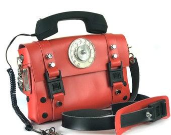 e771db310 Christmas gift 10% OF Hi Tek Alexander red shoulder bag retro black  telephone handle unusual shoulder bag cross body bag handbag