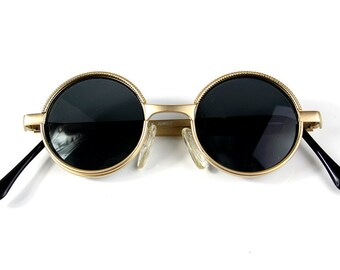 798afbffe Hi Tek Alexander round metal frame Ozzy Osbourne styel steampunk vampire  sunglasses