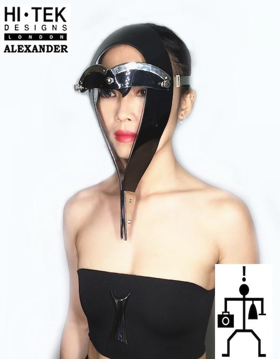 Hi Tek Alexander handmade futuristic modern steampunk unusual transformer eyewear mask
