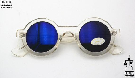 colore BLUE 1x paio LENTI per Occhiali Steampunk Goggles