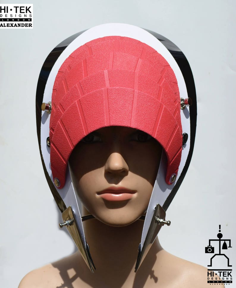 Hi Tek Alexander handmade futuristic modern futuristic sci fi steampunk  unusual party eyewear mask hat