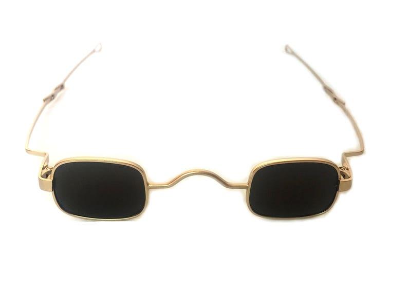 de7afe32bed Hi Tek Alexander gold small square sunglasses spectacles retro