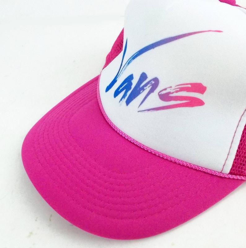a6b5c7363c 80s Vans Skater Hot Pink Vintage Mesh Trucker Snapback Hat