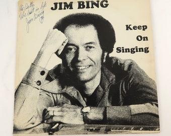 Jim Bing Keep on Singing Signed Autograph Vinyl LP Record Album DB Records  33097