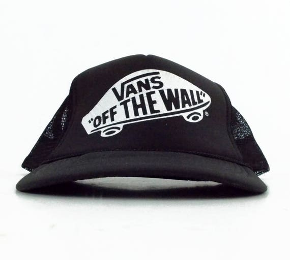80s Vans Off the Wall Classic Vintage Mesh Trucker Snapback  1769fe394539