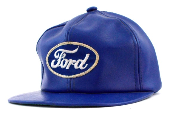 80s Ford Trucks Cars Classic Leather Vintage Snapback Hat  2d69d54d00a