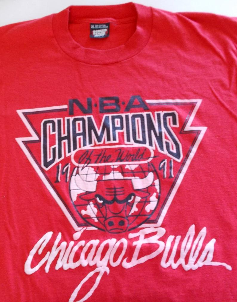f071ef085652 1991 Chicago Bulls Michael Jordan Championship Screen Stars