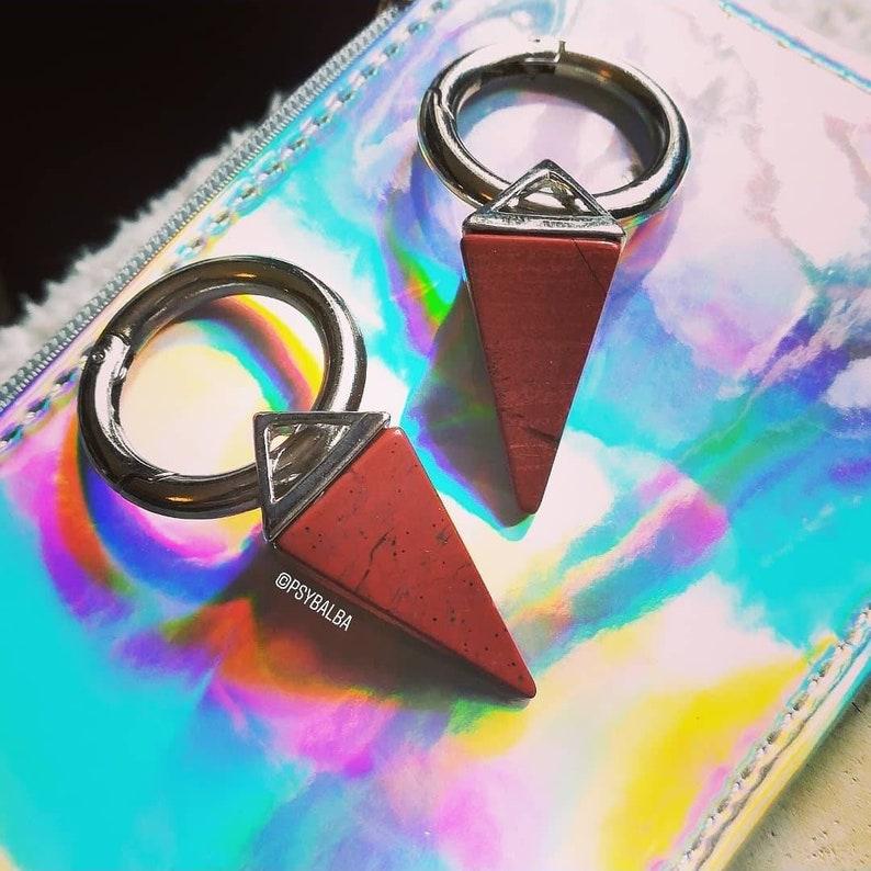 Pair of Red Jasper weight / CLIP pendulum weights