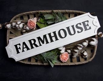 Farmhouse Embossed Wood Sign/Custom/Home/Fixerupper