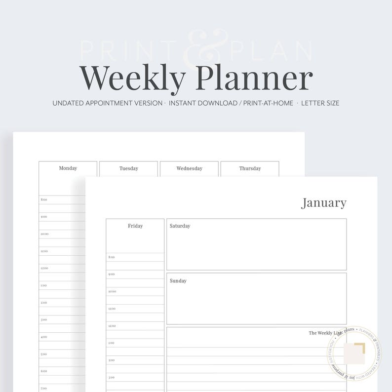 photo relating to Weekly Planner Printable called Undated Weekly Planner Printable, Weekly Planner, Every month Planner, Planner Inserts, Objective Planner, in the direction of do record, She Ideas Planner
