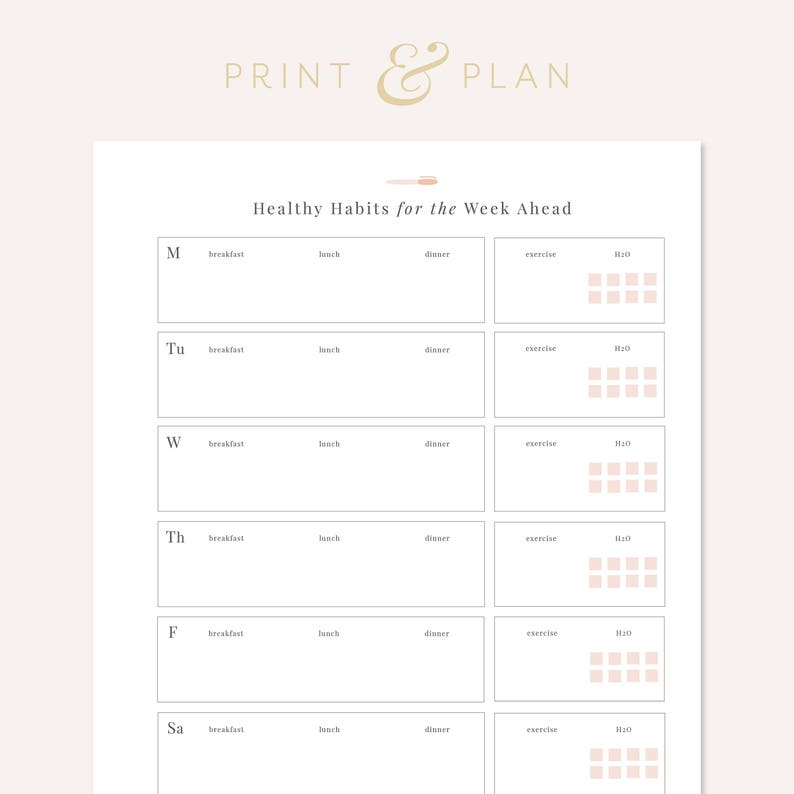 picture relating to Fitness Planner Printable named Health and fitness Planner Printable, Healthful Patterns Tracker, Exercise routine Planner, Health and fitness and Overall health, Conditioning Tracker, Bodyweight decline Planner, Supper Planner