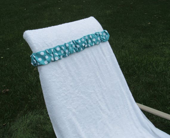 Stupendous Dark Teal With Large White Polka Dot Towel Cinch Bachelorette Party Cruise Resort Vacation Girls Weekend Beach Chair Beach Towel Scrunchie Forskolin Free Trial Chair Design Images Forskolin Free Trialorg