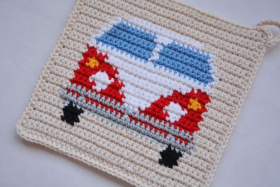 Van Potholder Crochet Pattern For Beginners Etsy