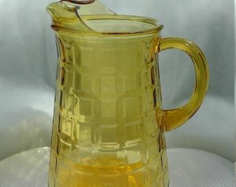Jahrgang Bernstein Glas Krug-große Glas-Krug