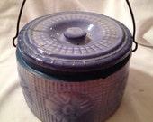 Salt Glazed BUTTER CROCK - Daisy Waffle Weave