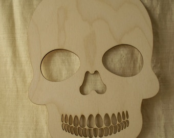 Skull, Sugar Skulls, Day of the Dead, Dia de los Muertos, Calavera, Laser Cut Wood Shapes, Ready to Paint Wood, Skulls for Crafting