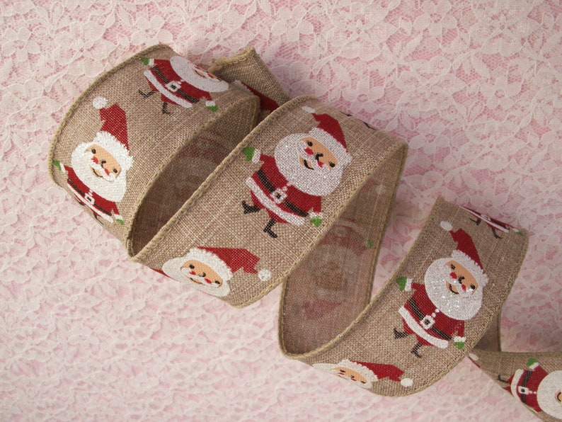 Christmas Holly Print Trim With lace edge  Sold by the Yard