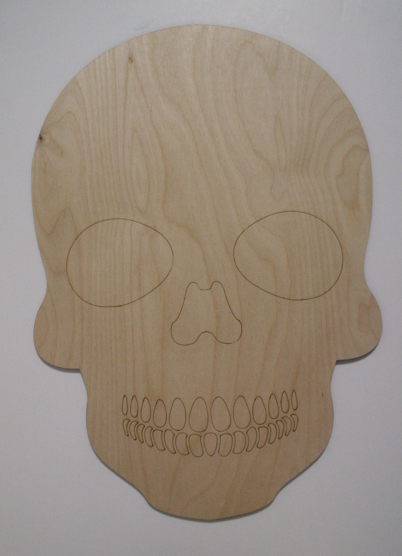 Wooden Skull Sugar Skulls Day Of The Dead Dia De Los Muertos Calavera Laser Cut And Engraved Wood Shapes Ready To Paint Woodcraft