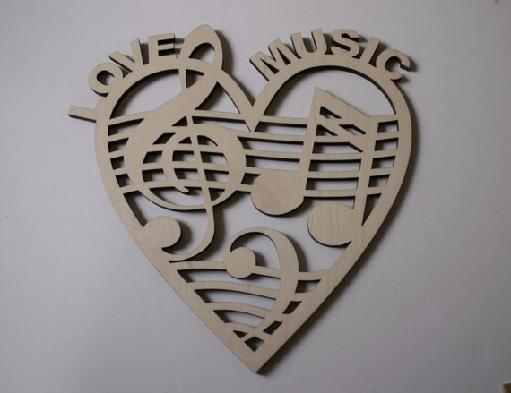 Music Wall Art Wreaths Home Decor Door Hangers Ready to Paint Woodcraft Music Note Laser Cut Wood Shapes Christmas Decor