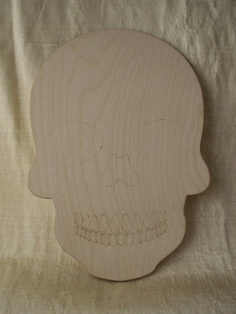 Dia de los Muertos Ready to Paint Woodcraft Sugar Skulls Laser Cut Wood Shapes Wooden Skull Day of the Dead Calavera