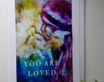 Jesus loves you card etsy inspirational christian greeting card inspirational quote card good shepherd card jesus holding sheep m4hsunfo Images