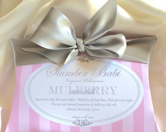 Cool to the cheek, 100% PURE Mulberry Silk Pillowcase
