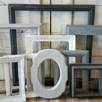 Farmhouse PICTURE FRAMES - Nursery Decor - Shades Of Gray - Shabby - Distressed - Picture Frame Set ~ Gallery Wall Set - Vintage Ornate