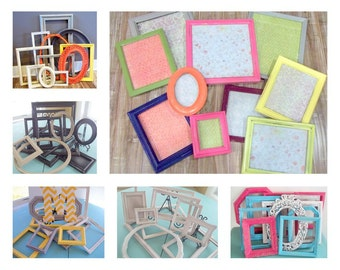 Chic Wedding Frames-Custom Made, Picture Frame Set of 10, Painted Frames