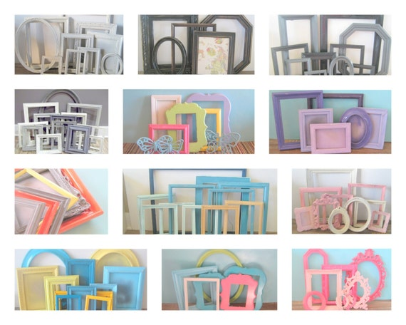 Custom Made Picture Frames Set Of 5 Photo Frames Pick Your Etsy