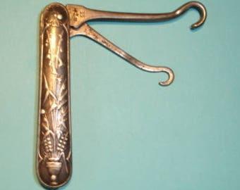Double Button Hook - Gorham Silver