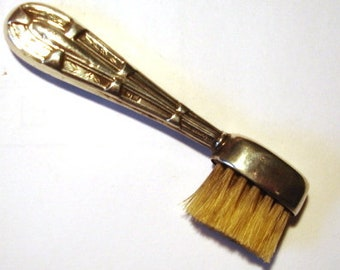 Edwardian Silver Moustache Brush