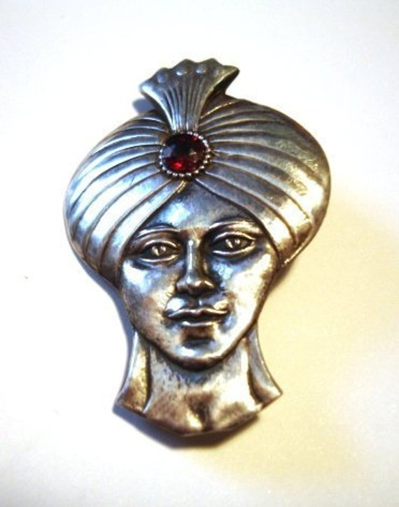 Antique Indian Prince Brooch