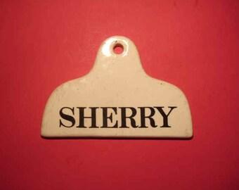 Antique Wine Cellar Label Marked Sherry