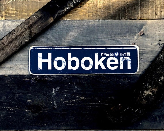 Hoboken Wood Sign 4x15in.