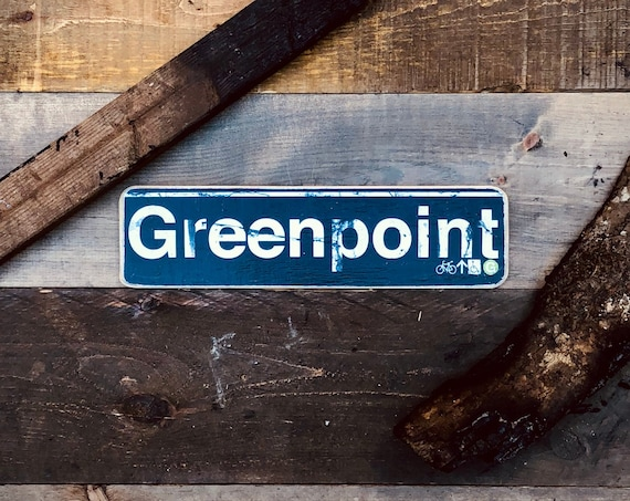 Greenpoint Wood Sign- 4x15 in.
