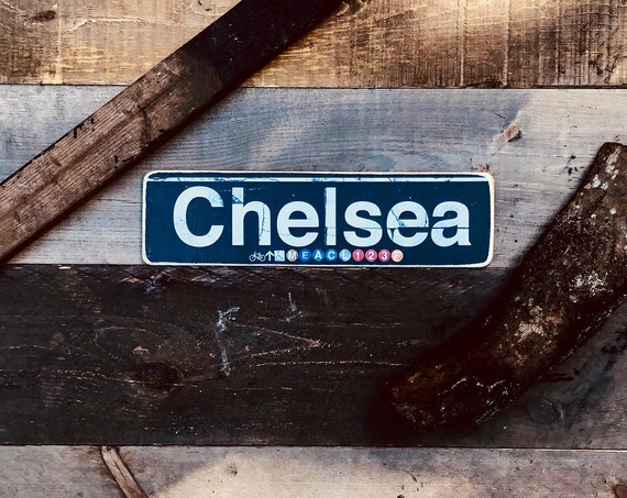 Chelsea Wood Sign- 4x15 in.