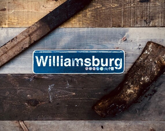 Williamsburg Wood Sign- 4x15 in.
