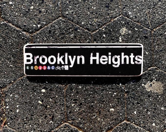 Brooklyn Heights  New York City Neighborhood Hand Crafted Horizontal Wood Sign - Subway sign, NY , NYC Art, Subway Art, NYC Sign. ny gift