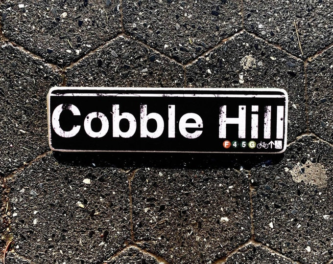 Cobble hill Brooklyn New York City Neighborhood Hand Crafted Horizontal Wood Sign - Subway sign, NYC Art, Subway Art, NYC Sign. ny gift