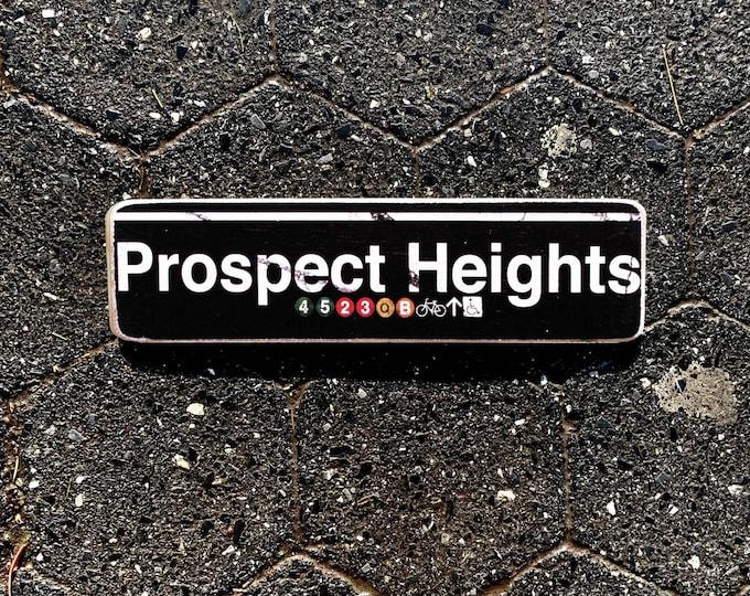 Prospect Heights Brooklyn New York City Neighborhood Hand Crafted Horizontal Wood Sign  Subway sign,  NYC Art, Subway Art, NYC Sign. ny gift