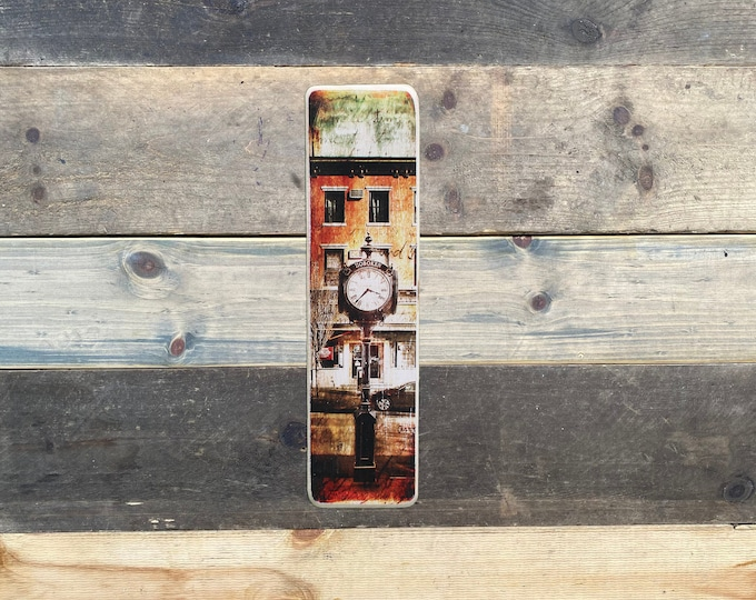 Hoboken City Hall Clock, , New Jersey Original Vertical Landscape Photography Hand Crafted on Wood -  ny gift