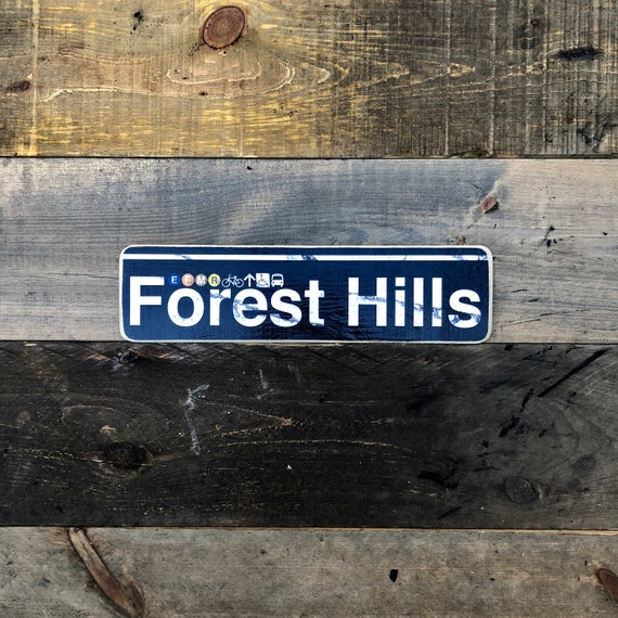 Forest Hills Wood Sign - 4x15 in.