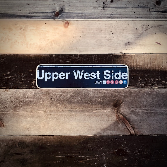 Upper West side Wood Sign- 4x15 in.